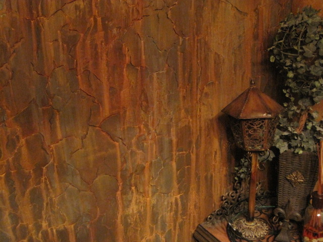 Rusted Metal Wall Finish by Bella Tucker Decorative Finishes