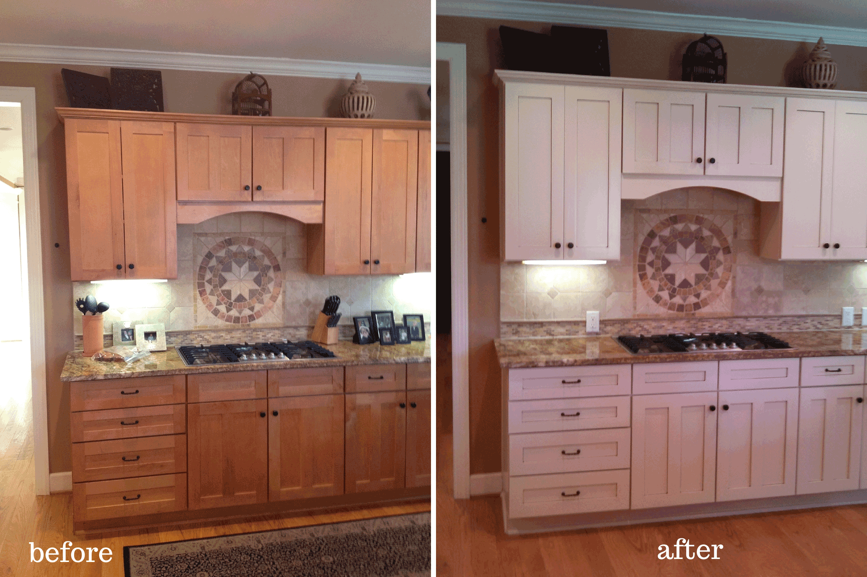 Painted Oak Kitchen Cabinets Before And After  galleryhip