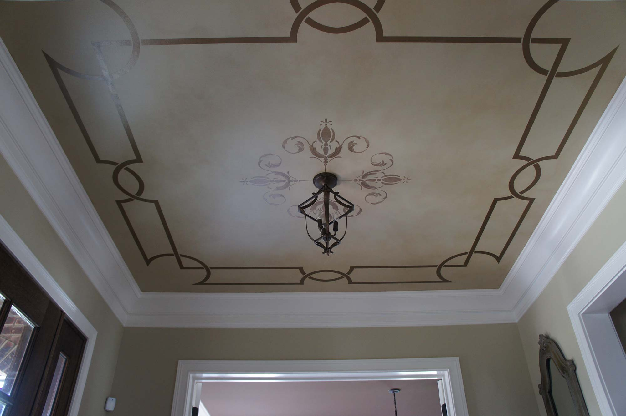 Decorative painted ceilings faux finish ceilings for Best paint finish for bathroom ceiling