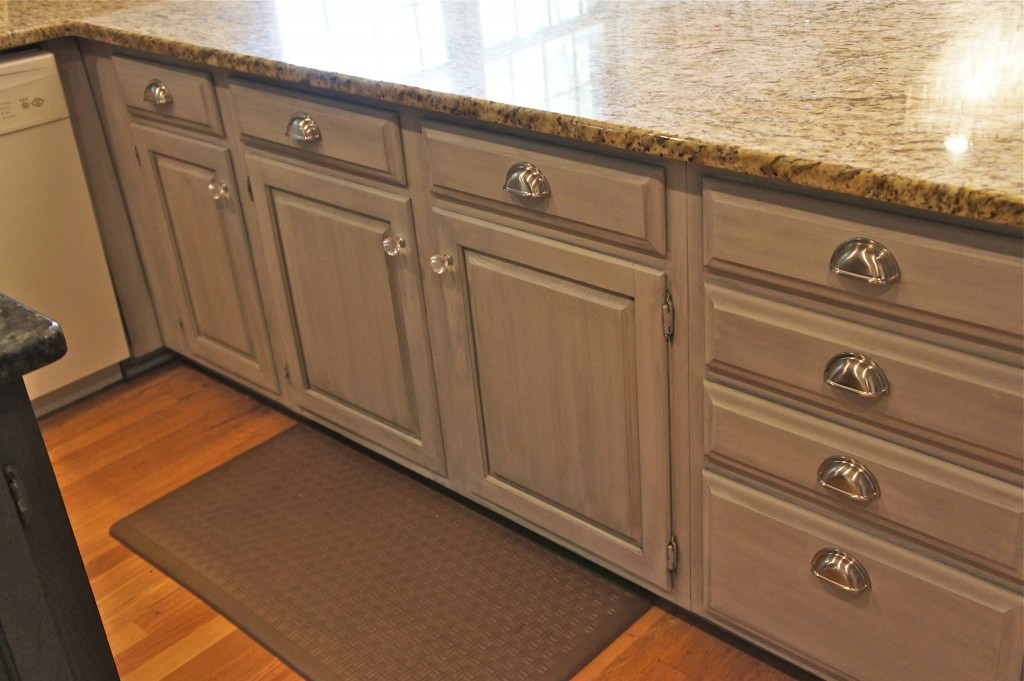 Kitchen Cabinets Painted With Glaze cabinet painting nashville tn | kitchen makeover