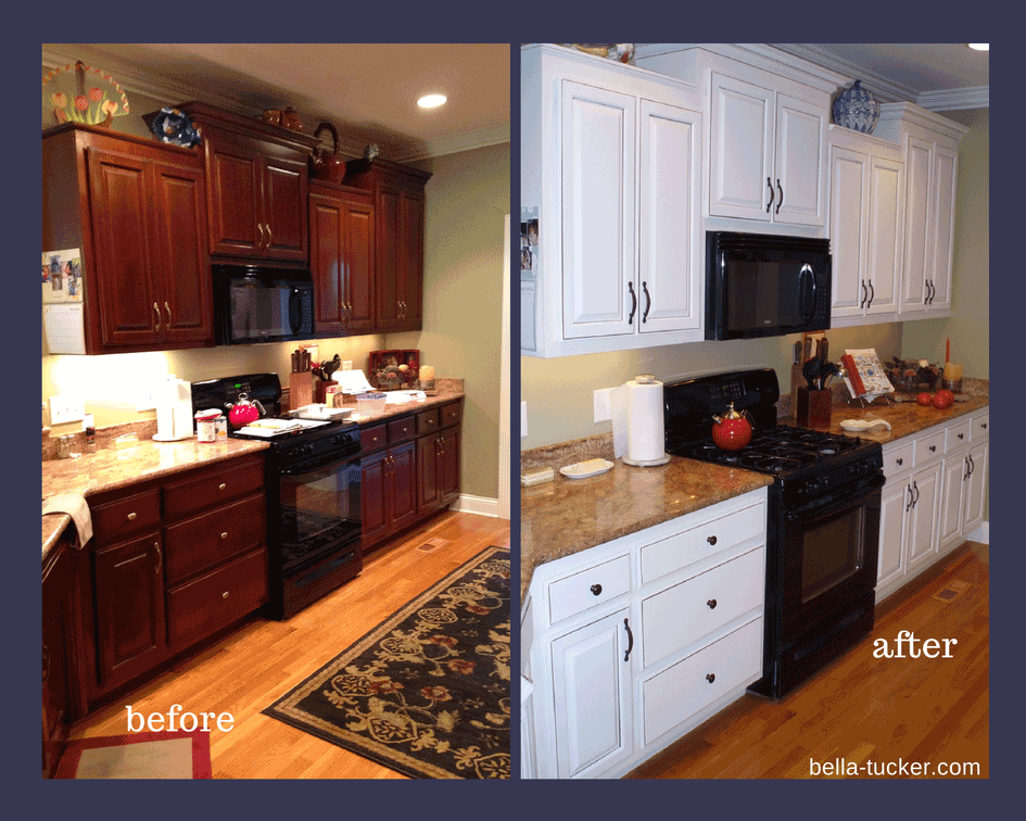 ... painted kitchen before and after by Bella Tucker Decorative Finishes ...