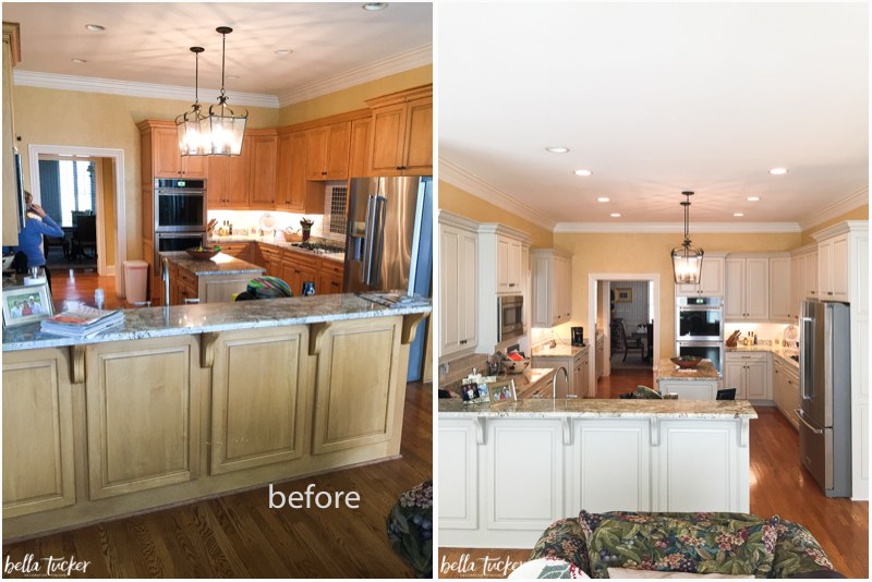 Interior Paint Kitchen Cabinets Before And After painted cabinets nashville tn before and after photos kitchen cabinet painting bella tucker