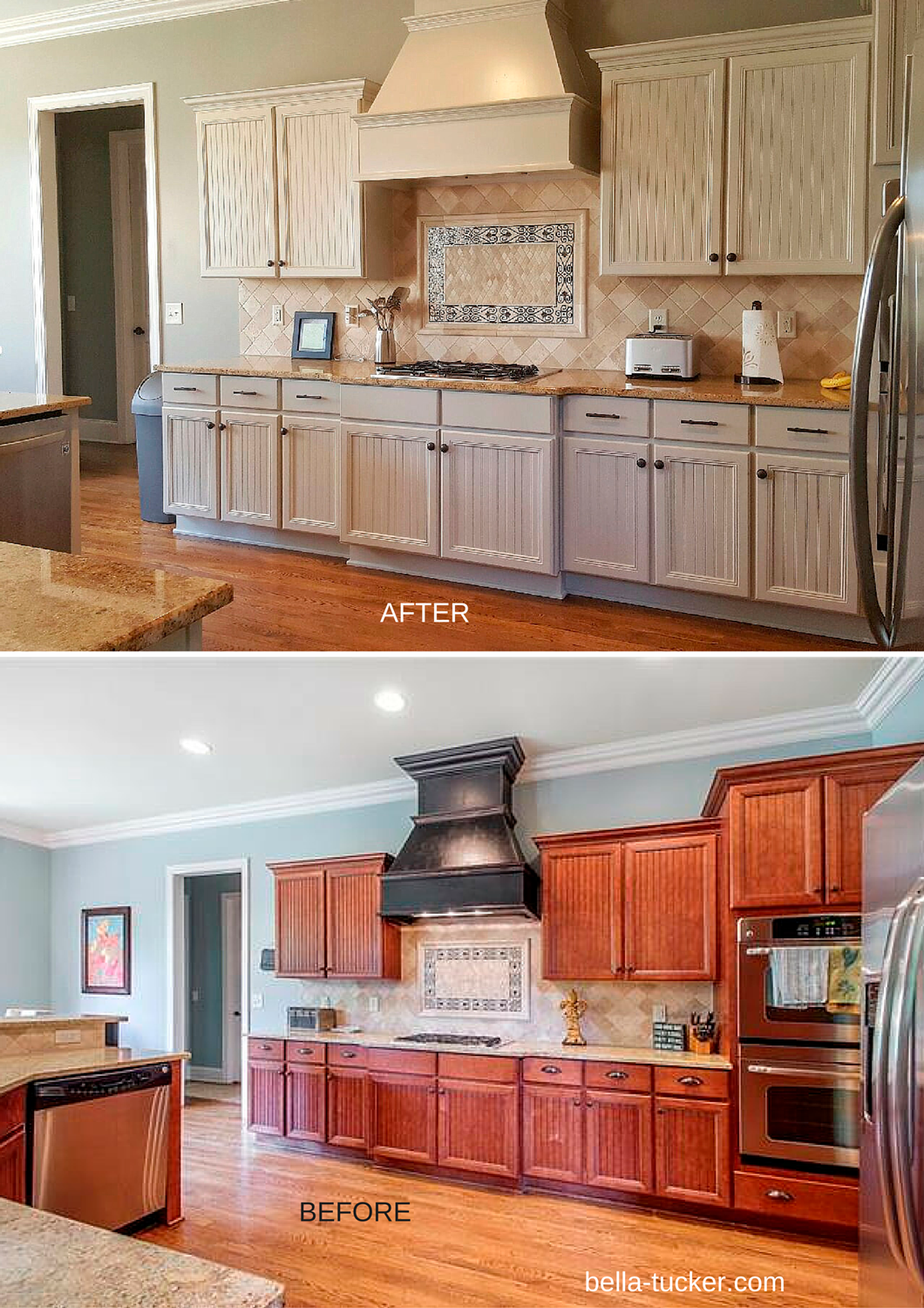 Painted cabinets nashville tn before and after photos for Painting wood cabinets white before and after