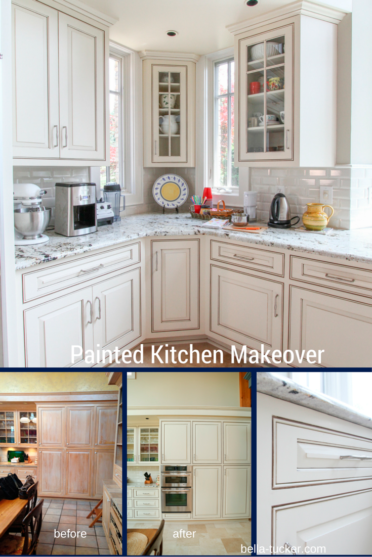 White Kitchen Cabinet Makeover Painted Cabinets Nashville Tn Before And After Photos
