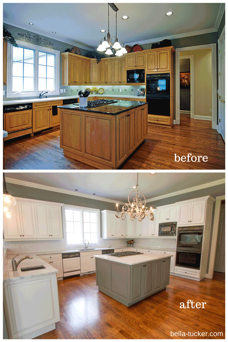 ideas cabinet home painted oak cabinets kitchen for white painting improvement process paint