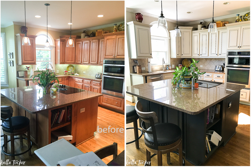 ... before and after by Bella Tucker Decorative Finishes painted-kitchen- cabinets-accessible-beige-bella-tucker ...