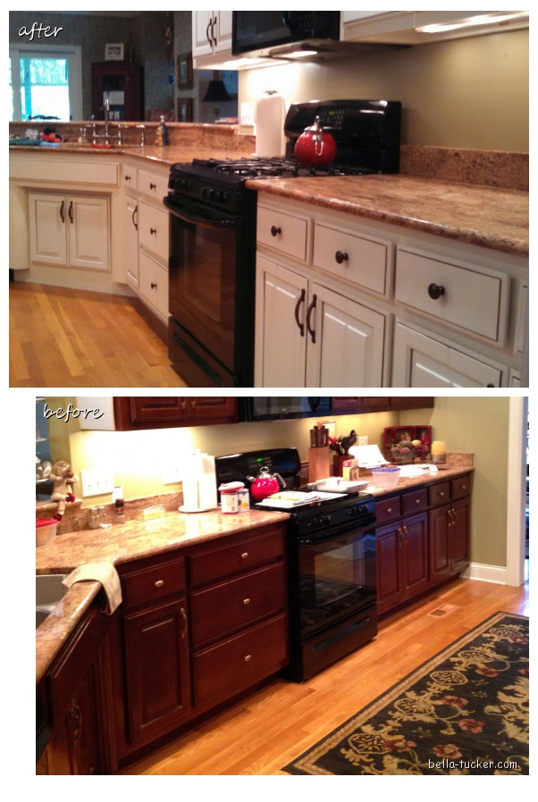 Painted  S Kitchen Cabinets Before And After
