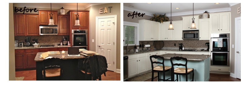 Painted Cabinets Nashville TN Before And After Photos Simple Before And After Kitchen Remodels Decoration