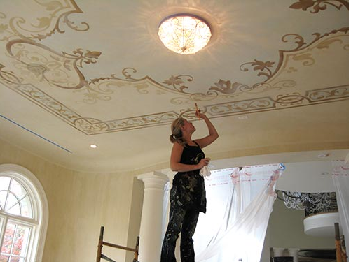 decorative painting ideas for ceilings - Downton Abbey Style Decorative Painting