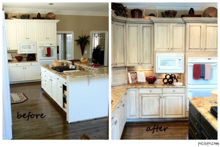 Kitchen Cabinet Painting Pictures Before And After