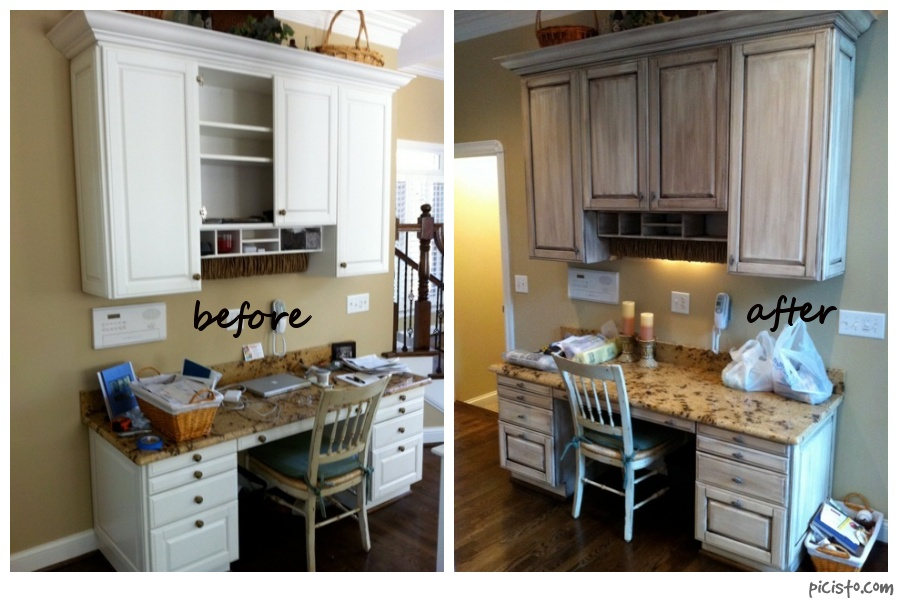 kitchen design photos before and after.  David Bradley Desk Before And After Painted Cabinets Nashville TN Before After Photos