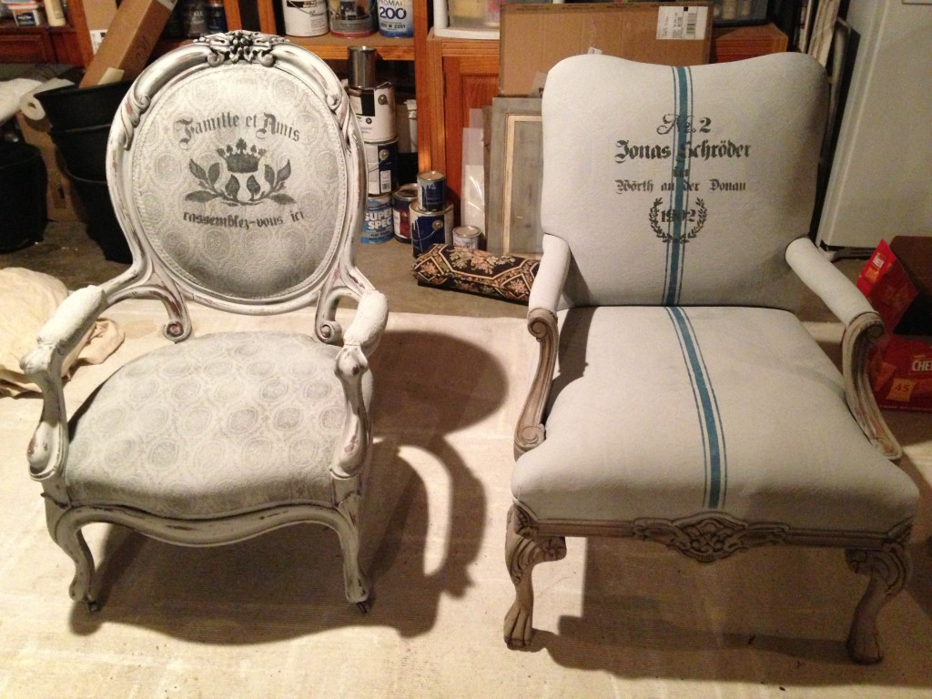 Painted fabric chairs - Annie Sloan Chalk Painted Fabric Chairs By Bella Tucker Decorative Finishes