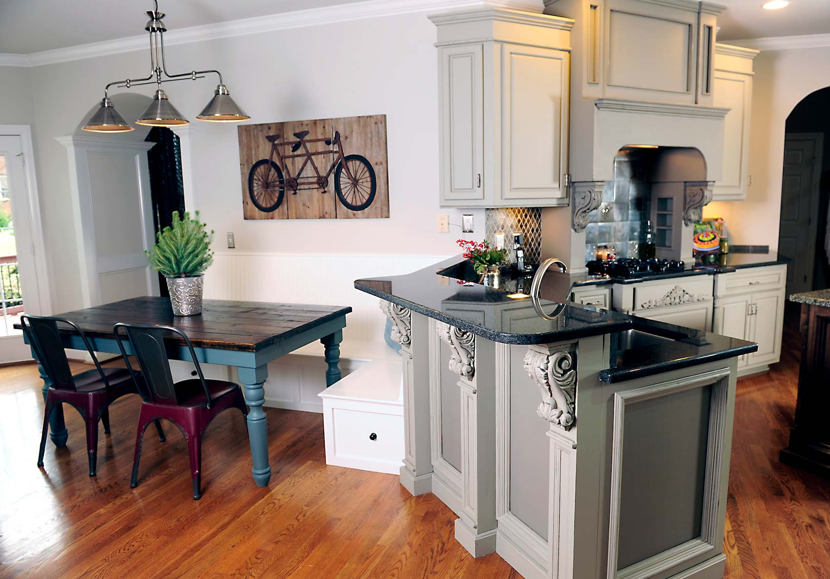 Painted gray cabinets by bella tucker decorative finishes