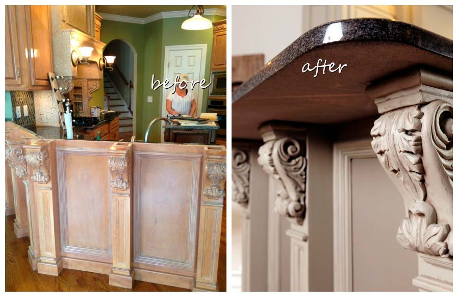 grey cabinets by Bella Tucker Decorative Finishes