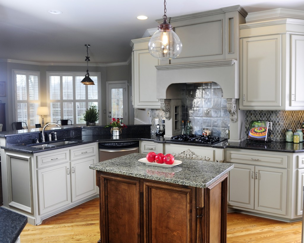 gray stained kitchen cabinets. grey kitchen cabinets by Bella Tucker Decorative Finishes Have you considered Grey Kitchen Cabinets