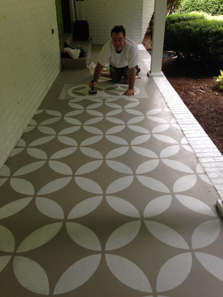 front porch stencil Bella Tucker Decorative Finishes
