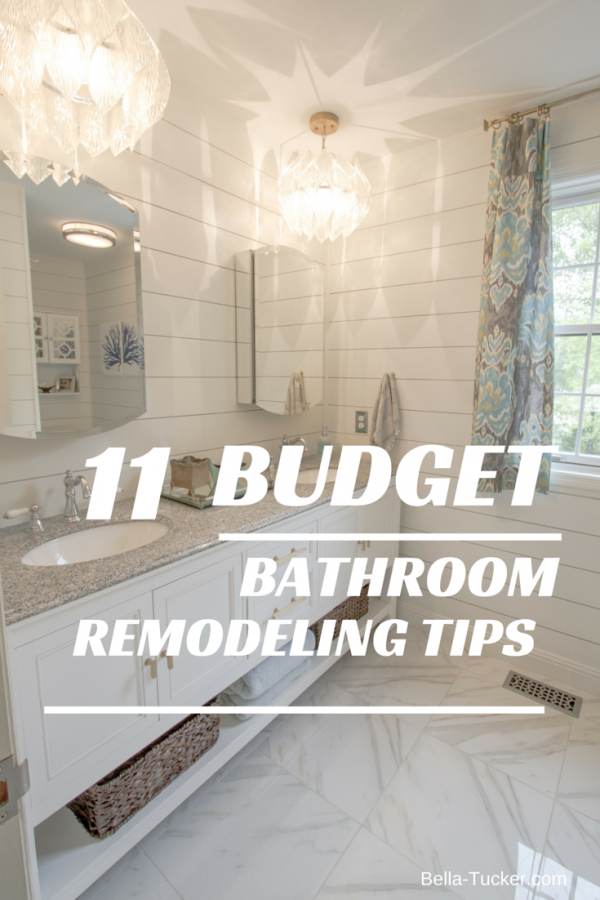 Bathroom remodeling on a budget bella tucker decorative for Best ways to save money when building a house