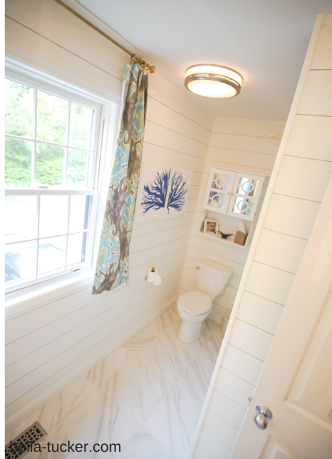 White Shiplap Bathroom