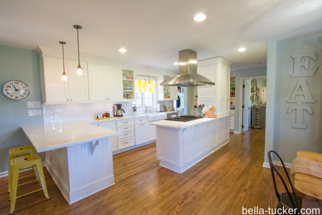 white kitchen cabinets without glaze- Bella Tucker Decorative Finishes