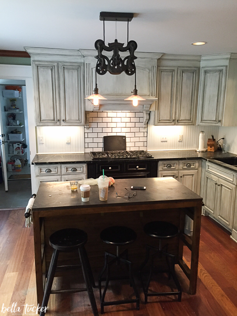 Pinting Kitchen Cabinets Before And After