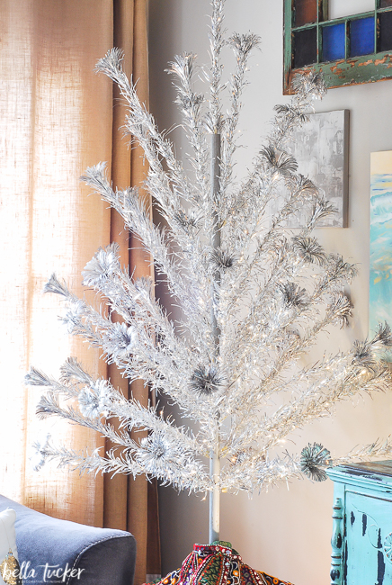 vintage-aluminum Christmas tree-bella tucker