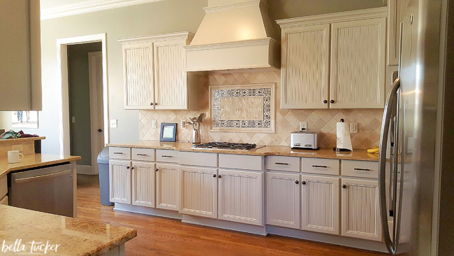 cabinets painted in sherwin williams accessible beige - Beige Kitchen Cabinets