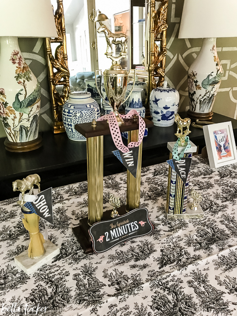 win-place-show trophies