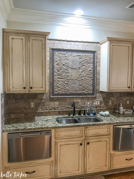 glazed cabinets before update - Distressed Kitchen Cabinets