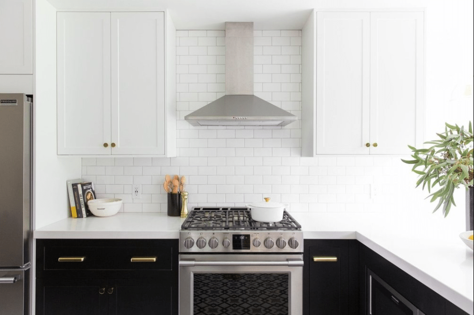 Two-toned kitchen by McGee and Co.