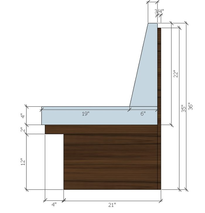 Erin Williamson's banquette design specs