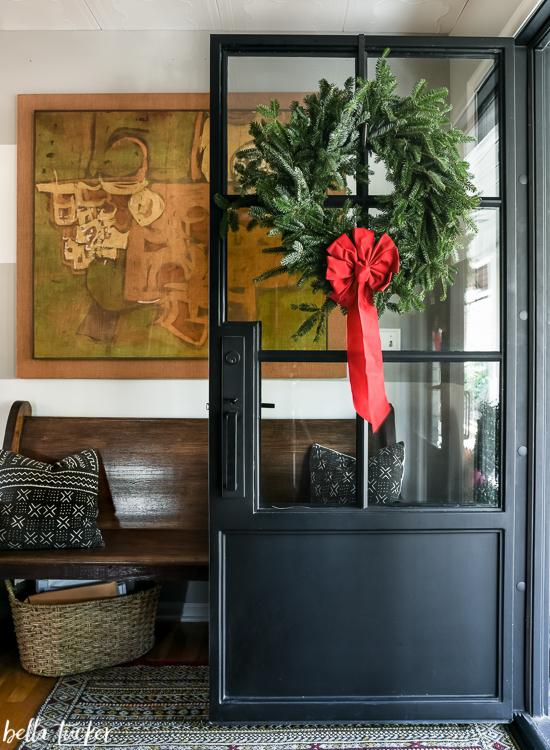 Chrismas iron front door