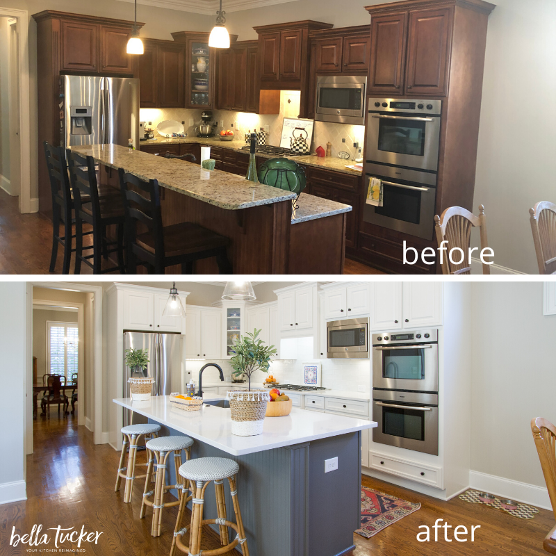 kitchen designed to sell before and after