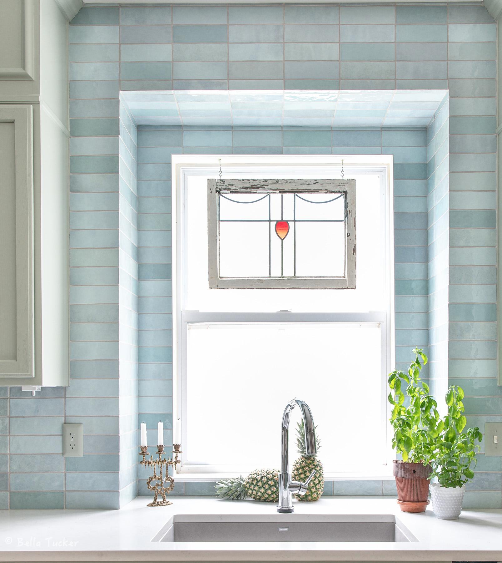 window backsplash tile install