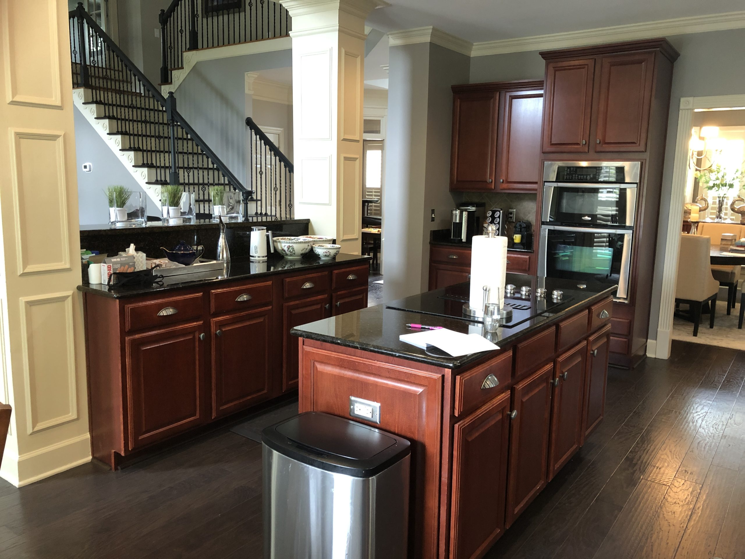 Painted Cherry Cabinets Kitchen, Can Cherry Wood Cabinets Be Painted