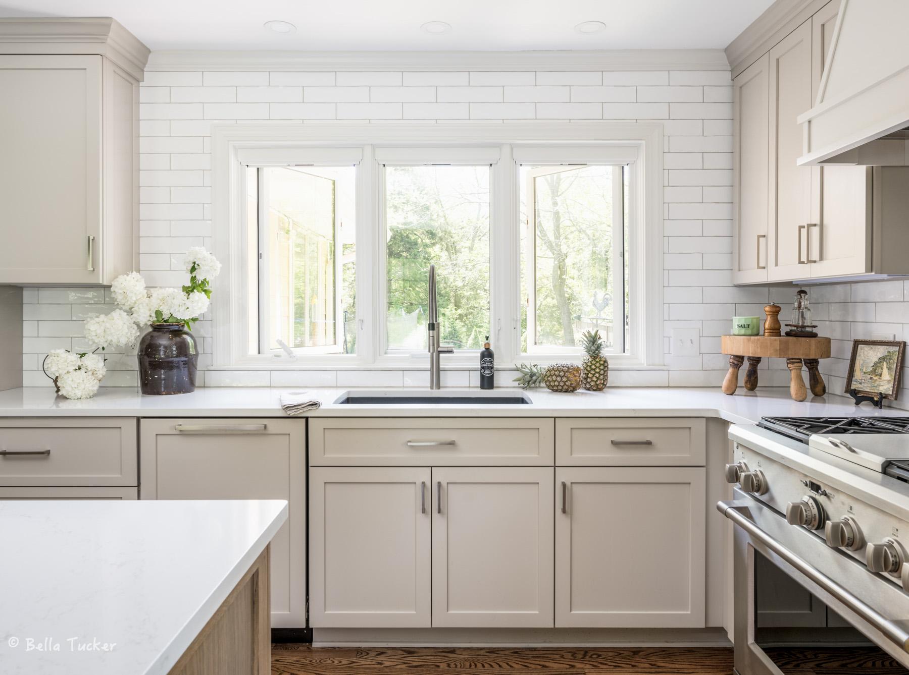 casement windows kitchen tile
